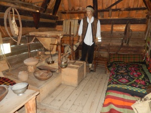 Recreated interior Slobomir folk park