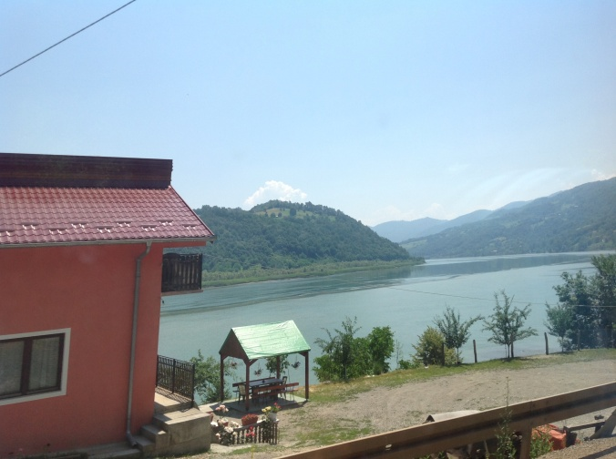 A glimpse of the River Drina from the bus