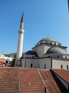 The Bey Mosque from our hotel room, daytime