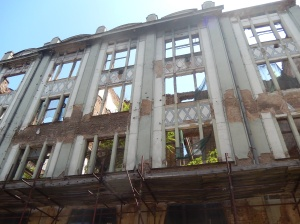 A baroque era building left in its ruined state