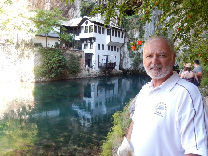 Bill at the Tekke House at Blagaj