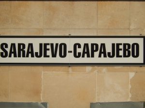 Train Station Name in Latin alphabet, - and latinised Cyrillic!