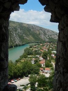 View from the top of the fort at Pocitelj