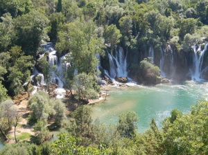 Looking down on Kravice Falls