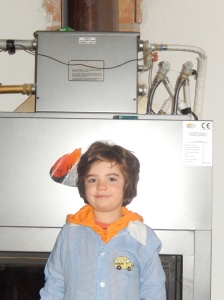 Freddy looking too cool in his school smock