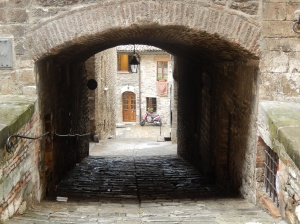 Wherever you go in Italian medieval towns, there is a view within a view (Gubbio)