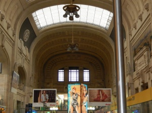 The interior of Milan Central railway station is just as grand as the entrance