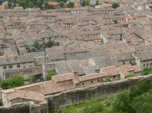 An overview of Gubbio from the cable car