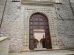 One entrance to the Basilica of Saint Ubaldo