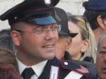 A carabinieri own duty in the crowd
