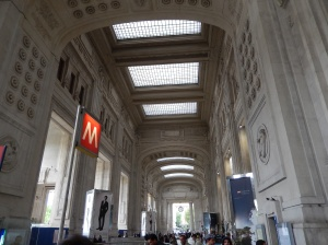 Main entrance to Milan Central railway station