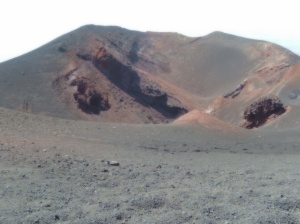 Volcanic crater on Mount Etna