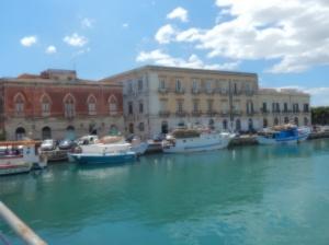 The island of Ortigia is across a bridge from Syracuse