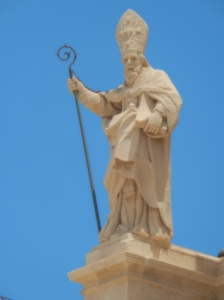 On top of a cathedral in Noto