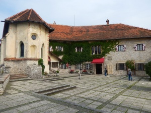 In the Castle Courtyard at Lake Bled
