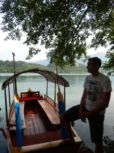 Pletna Boat and Oarsman - Lake Bled