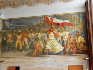 Part of the wall mural in TIto's former residence