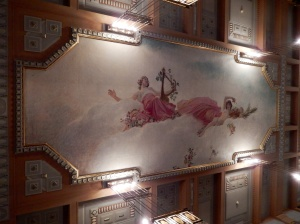 Ladies room ceiling decoration