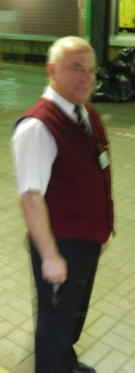 My hand was shaking before we even left the station - a blurry shot of our conductor