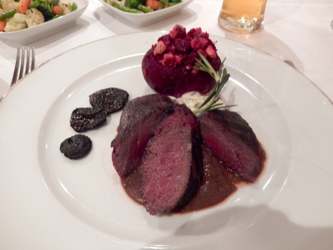 Venison (or some other game meat) with a stuffed beetroot