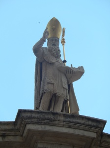 Patron saint of Dubrovnik - holding a model of the city in his left hand