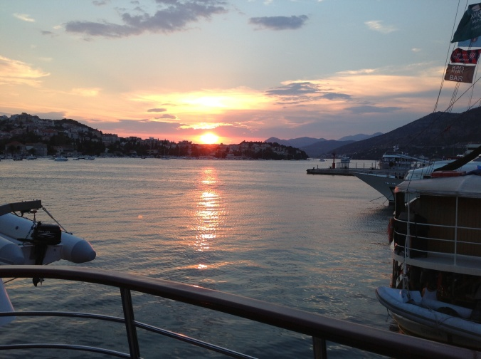 Our last sunset from the stern deck of the Adriatic Pearl.  Photo courtesy and copyright of Jay