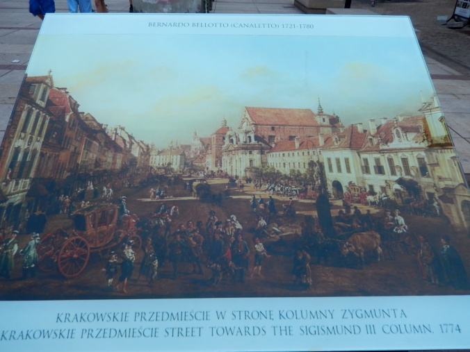 One of the classical paintings which served as a blueprint for rebuilding the old town