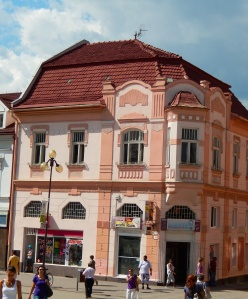 There are occasional nice buildings in Poprad main street