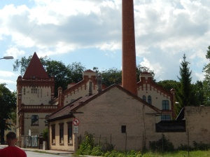 This building was actually in Poprad - we think it was an old power station.  It was elegant by Miskolc standards