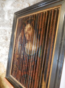 But the painting becomes the madonna from another angle