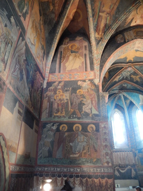 Just one part of the fresco wall, it goes all around the walls and ceiling in this manner
