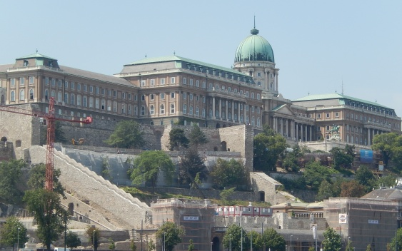 Castle district from the Danube River
