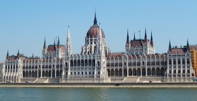 Parliament House Budapest seen from the Danube River