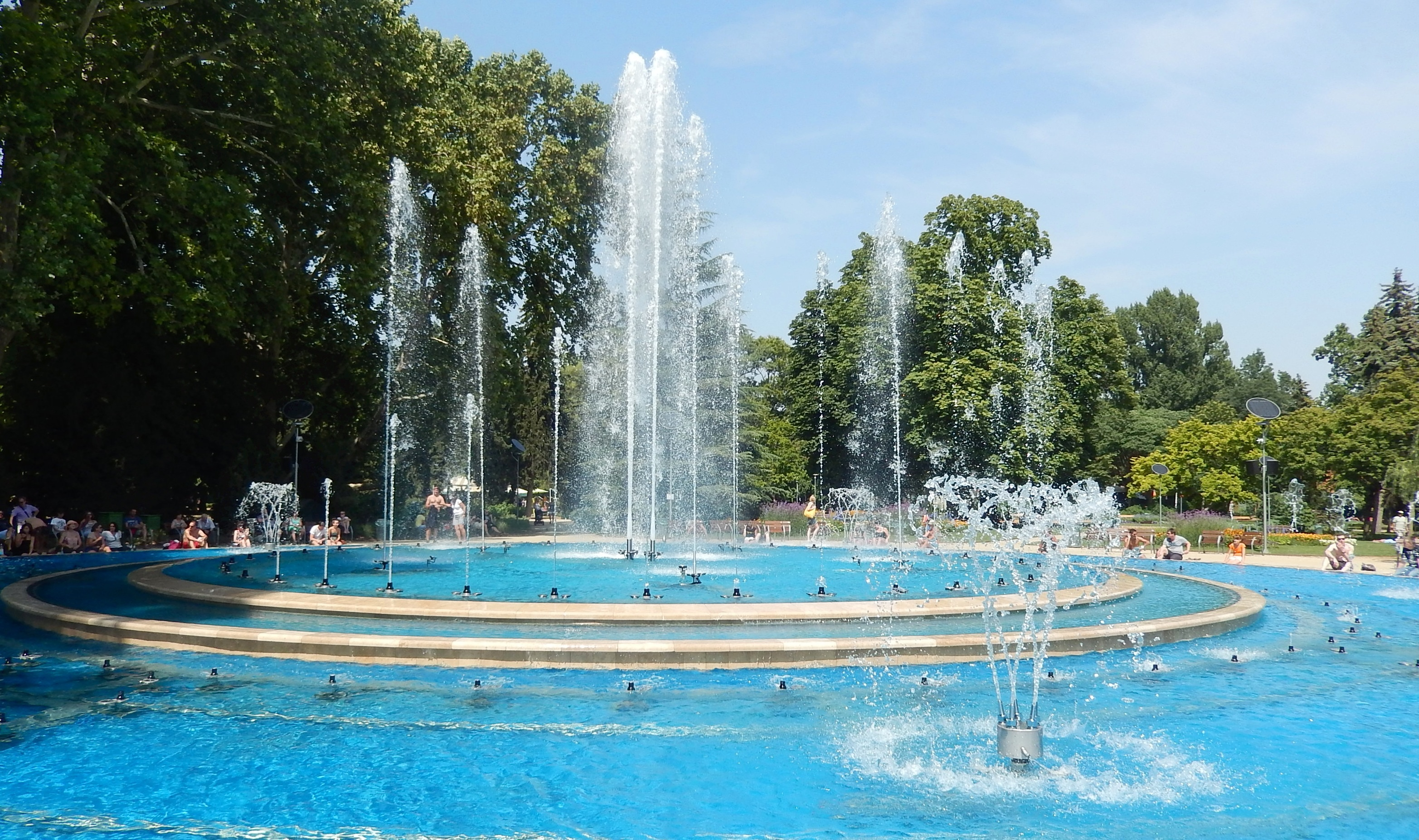 Sizzling in budapest the reluctant retiree - Margaret island budapest swimming pool ...