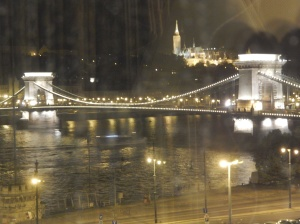 The view from our hotel room (through the glass)