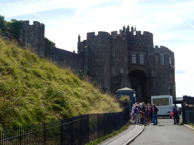 Approaching the castle - (there are much better photos on the Internet)