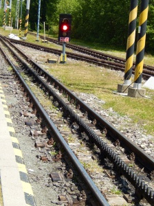 The narrow gauge rack rail