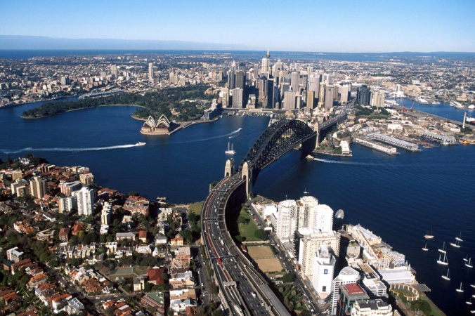 Aerial View of Sydney (source:Clipart)