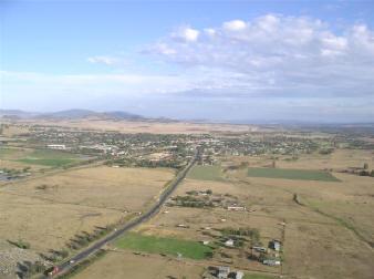 Aerial Shot of the Golden Highway