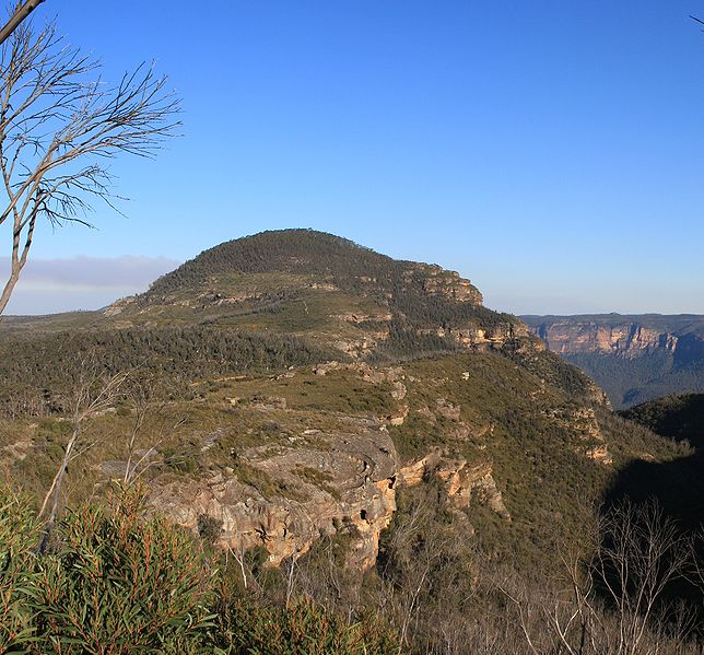 Mount Banks, Part of the Blue Mountains on Bells Line of Road Source: Wikipedia  Author: Adam.J.W.C.