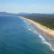 Aerial view of Lighthouse Beach, Port Macquarie.  Image source: Port Macquarie-Hastings council