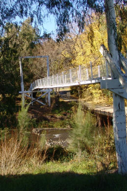 Suspension Foot Bridge over the Hunter River at Moonan Flat