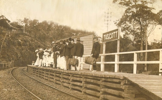 I cannot recall where I first found this historic photo of Tascott Station Possibly the National Archives Website