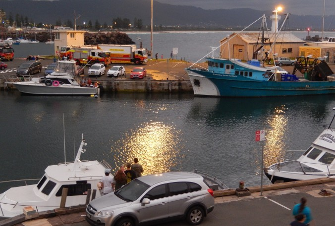 Wollongong Harbour - waiting for the NYE 2013 fireworks
