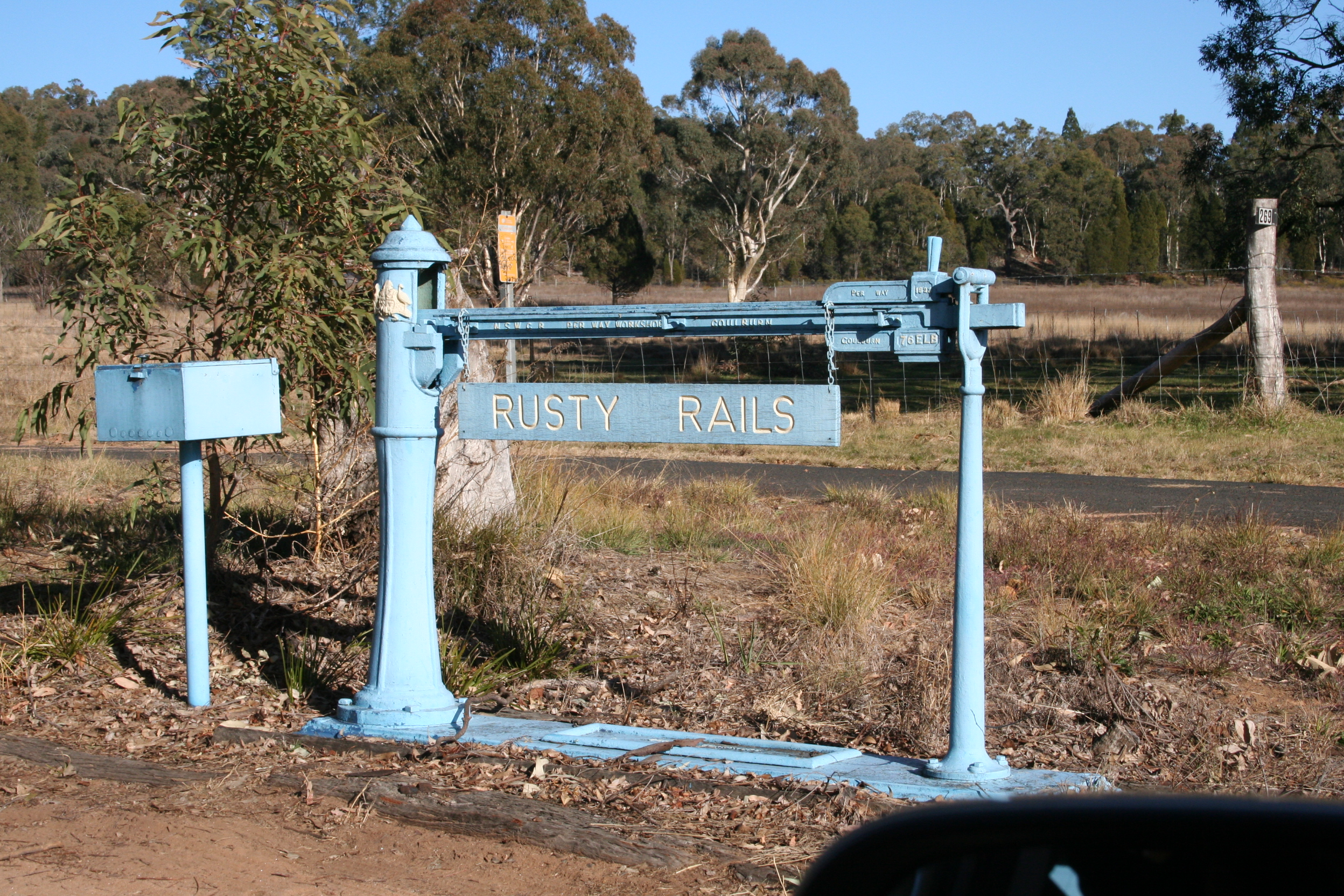 Letterboxes Outside Coonabarabran Towards Siding Springs