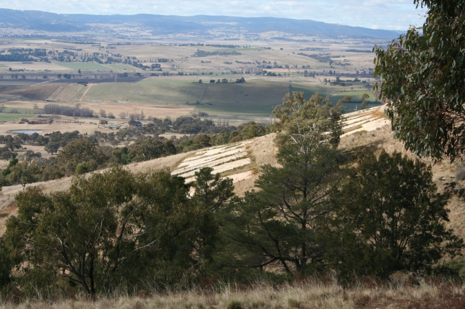 Mount Panorama Race Track sits on top of a hill overlooking Bathurst