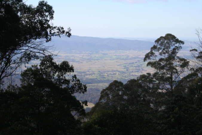 Looking across the Bega Valley from Brown Mountain