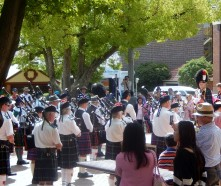 Massed Pipe Bands Pipers Armidale March 2014