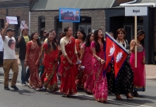 Nepalese contingent in Armidale Street Parade March 2014
