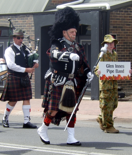 Pipe Band Leader Armidale Street Parade March 2014